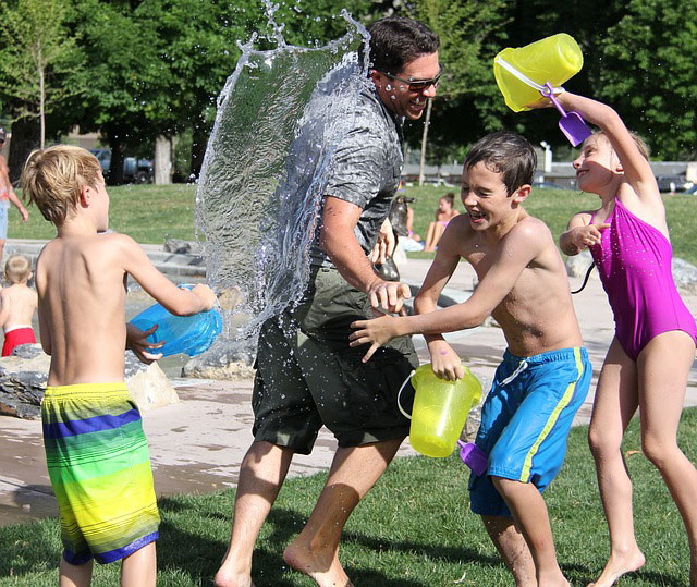 Water Fight in Blended Family