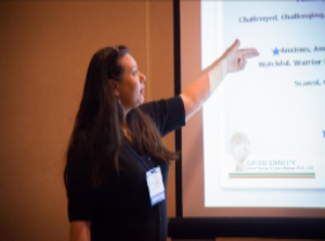 Dr. Grace Malonai presenting at the SENG 2015 conference