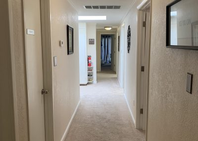 TheraThrive's long hallway Lafayette, California (counseling and consultation)