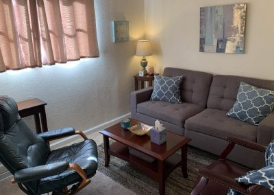 TheraThrive's room 2 couch in Lafayette, California (counseling and consultation)