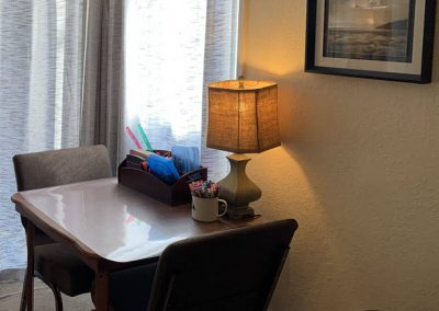 TheraThrive's room 5 art area in Lafayette, California (counseling and consultation)
