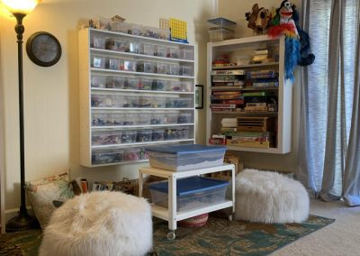 TheraThrive's room 5 play area in Lafayette, California (counseling and consultation)