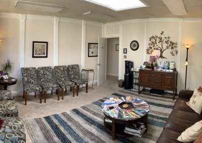Waiting room at TheraThrive's therapy consultation and assessment lovely downtown office in Lafayette