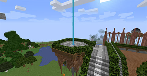 Theracraft, TheraThrive's Minecraft server: Spawn Area (July 2020)